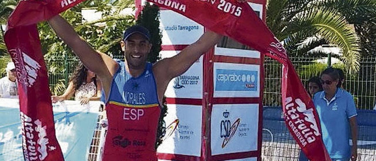 Lionel Morales, el pasado sábado en la meta en Tarragona.