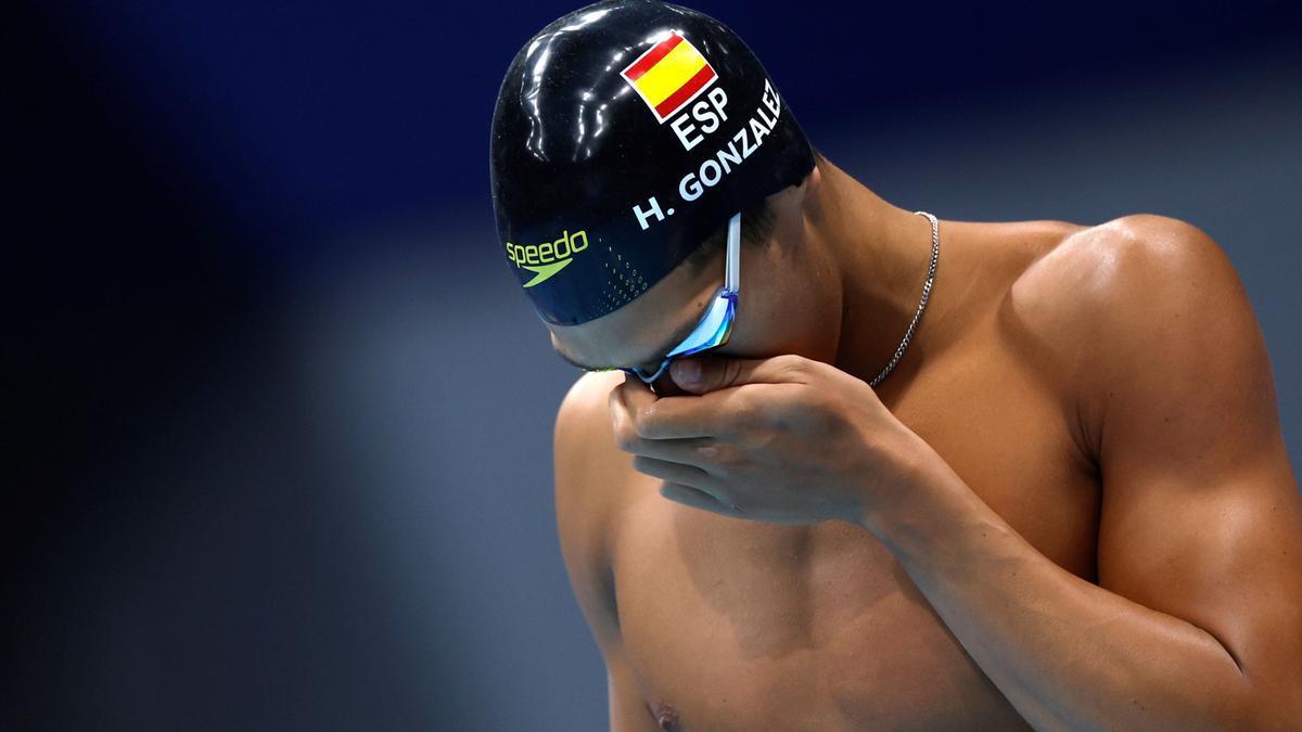 Hugo González, fuera de la final de los 200 estilos.