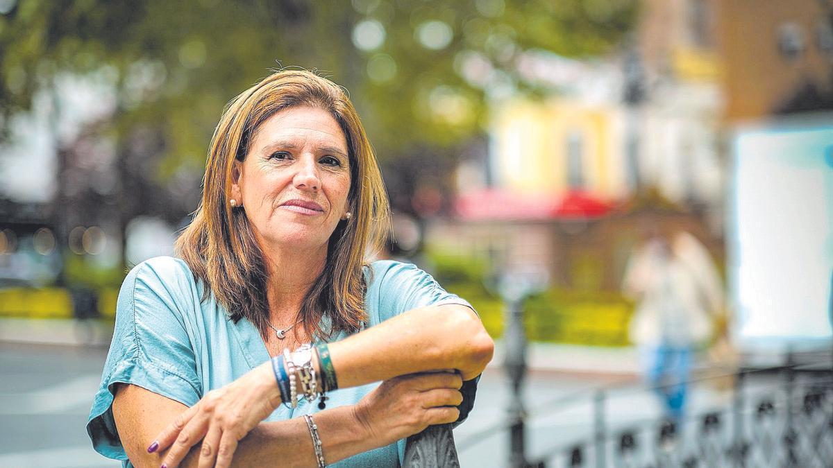 María José Ruiz, esta semana en Badajoz, donde vive.