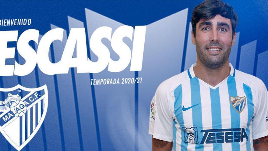OFICIAL: Escassi ya es jugador del Málaga CF