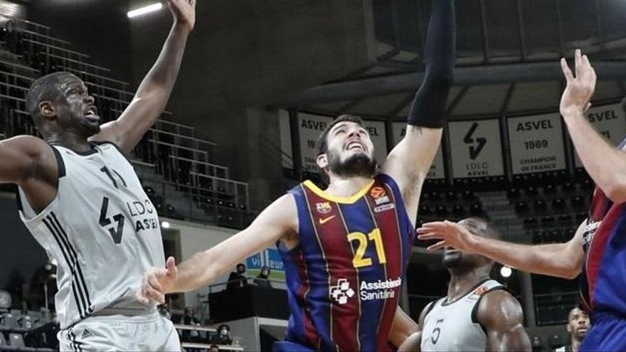 El Asvel Villeurbanne frena la racha del Barça