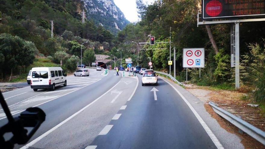 Sperrung des Sóller-Tunnels wegen Wartungsarbeiten