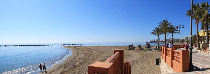 La playa de Santa Ana en Benalmádena.
