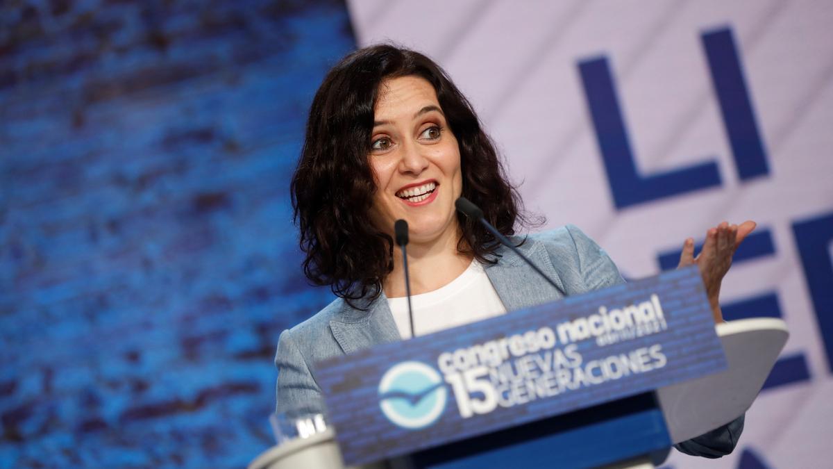 Isabel Díaz Ayuso, en el congreso de Nuevas Generaciones