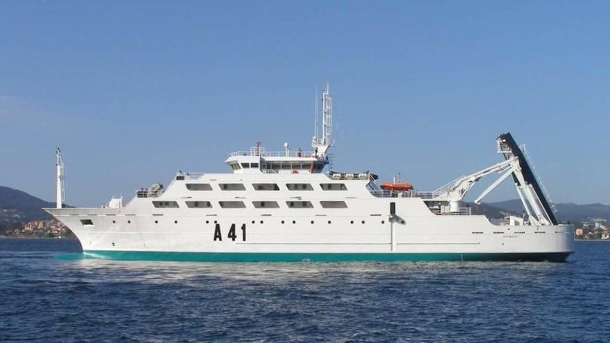 """El barco """"Intermares"""" suspende su escala en el puerto de Avilés"""