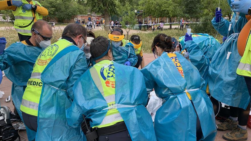 Muere un hombre tras ser apuñalado en un parque de Madrid