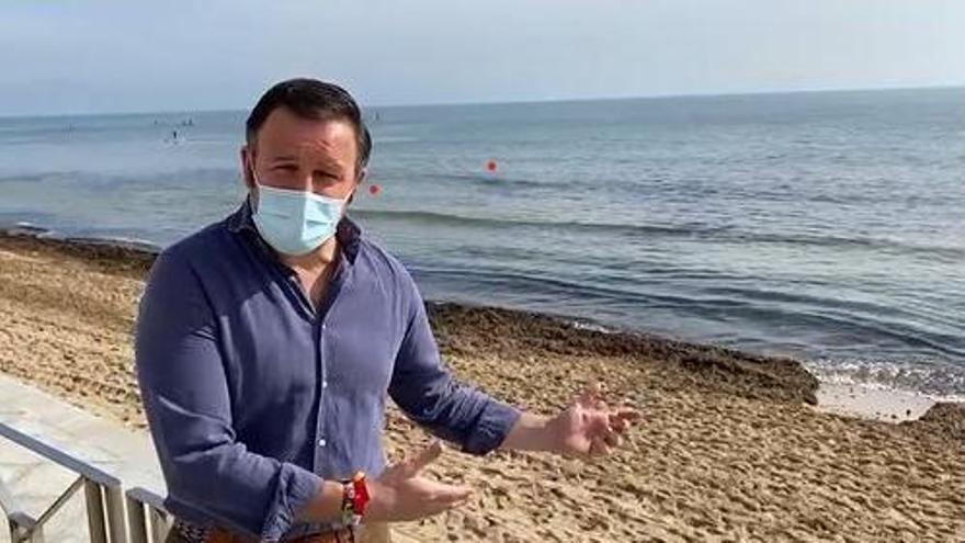 Pablo Ruz reclama mejoras en las playas de Elche
