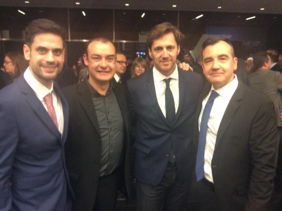 Raúl Juan, director web de informacion.es; David Seva, del Festival de Cine de Alicante; Borja Rodríguez, director regional de Cope y Vicente Seva, director del Festival de Cine de Alicante