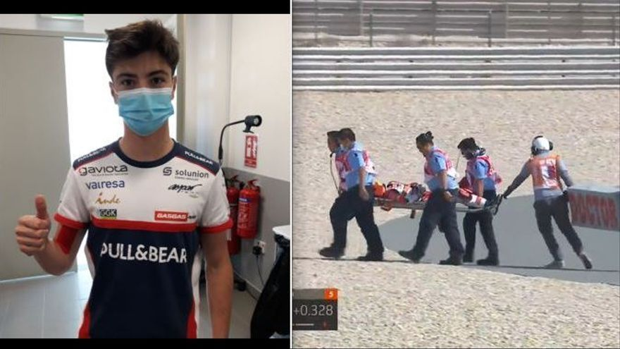 Izan Guevara sufre un accidente en el Warm Up que no le impedirá correr en Doha