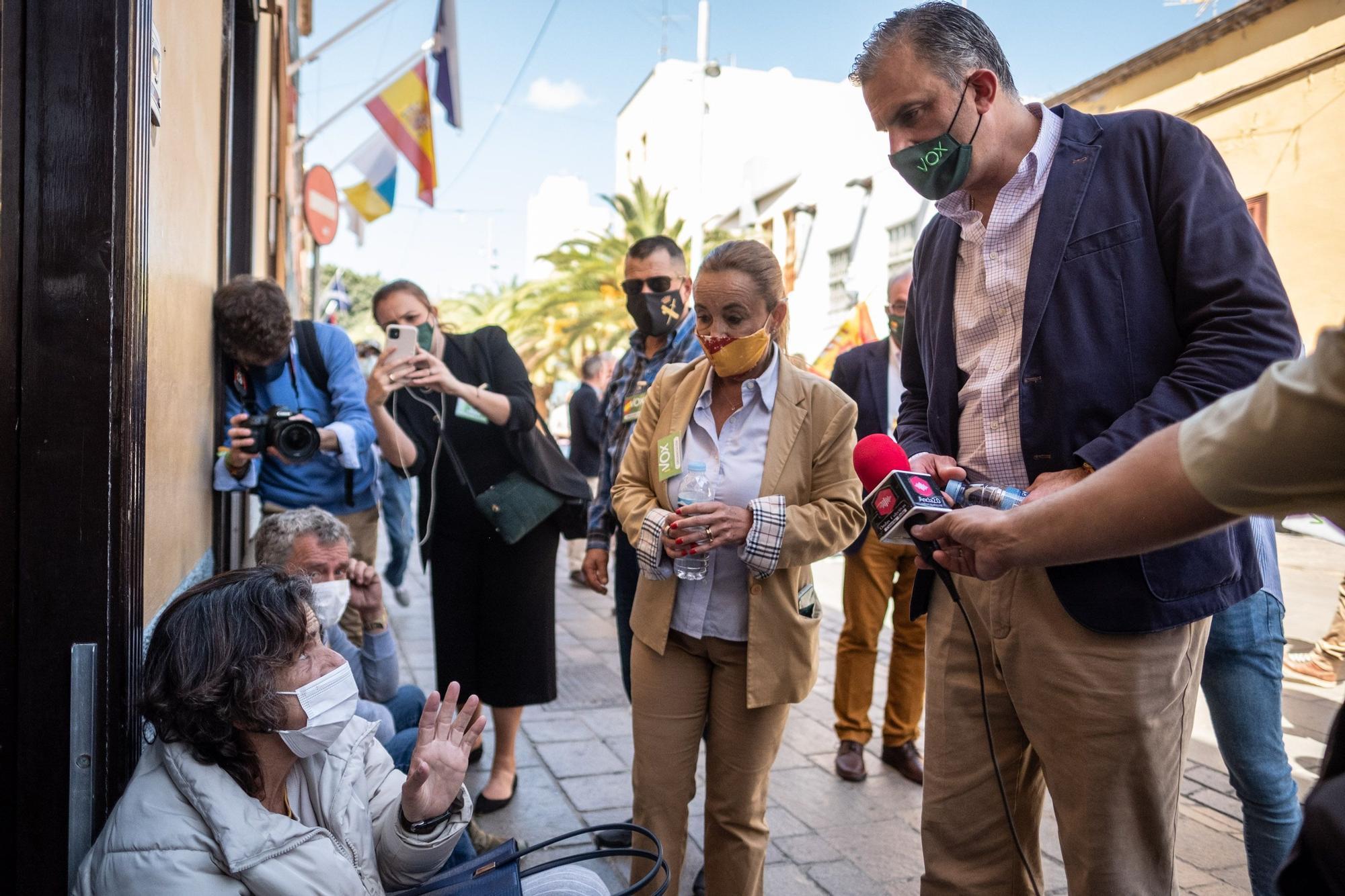 Rueda de prensa de Ortega Smith en Tenerife