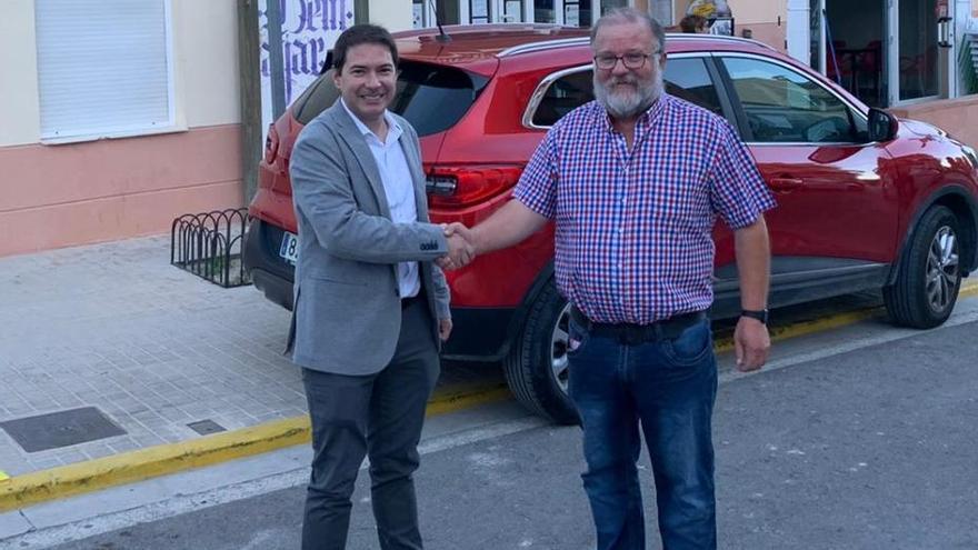 Joan Sanchis se compromete a trasladar a la Diputación las demandas de Beniatjar sobre la CV-622