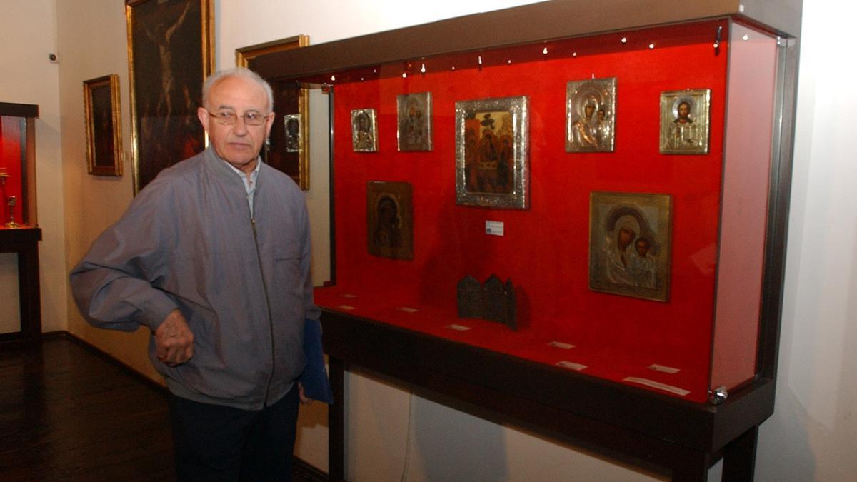 Ramón Platero en el Museo de la Iglesia en 2010.
