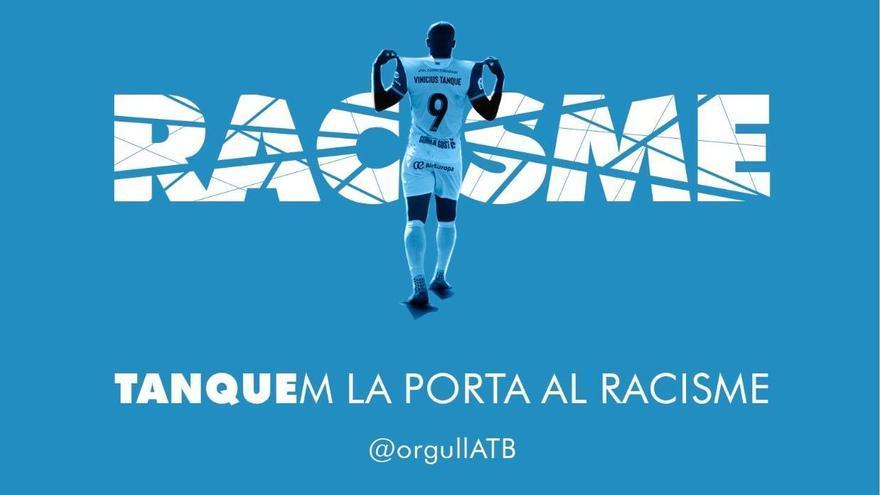 """Las Penyes del Baleares solicitan al club """"que denuncie los insultos racistas"""" a Vinicius Tanque"""