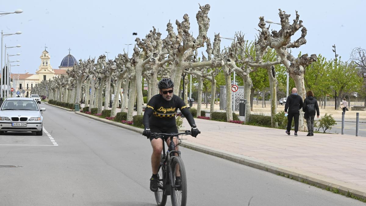 Imagen del último tramo de la avenida de Lledó que será peatonal.