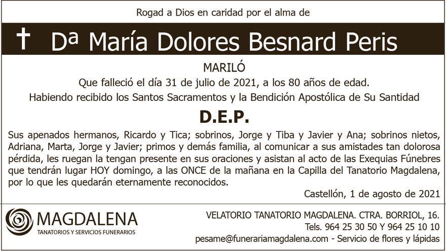 Dª María Dolores Besnard Peris