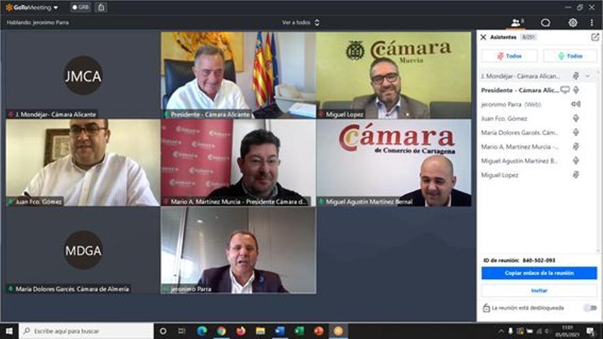 Las Cámaras de Comercio de Alicante, Orihuela, Almería, Murcia, Cartagena y Lorca se unen contra los recortes en el Tajo-Segura