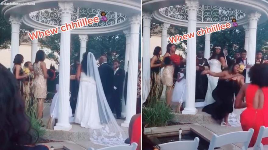 """Una amante embarazada llega a la boda de él con su mujer: """"Aquí está tu bebé"""""""