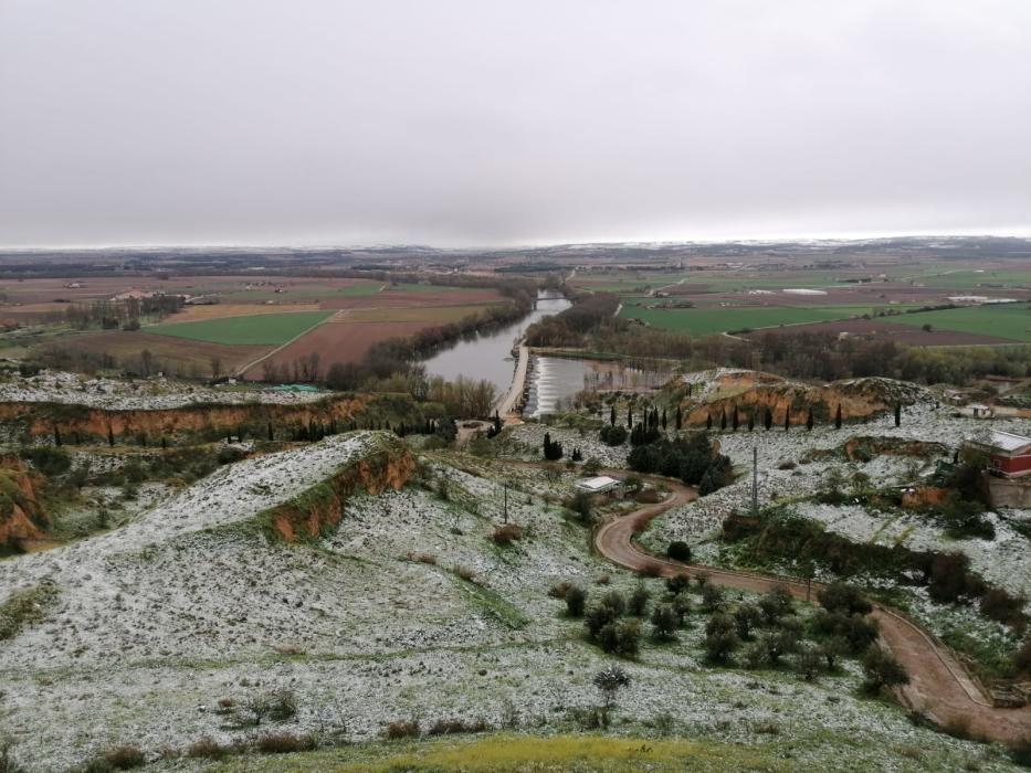 La vega del Duero en Toro, nevada.