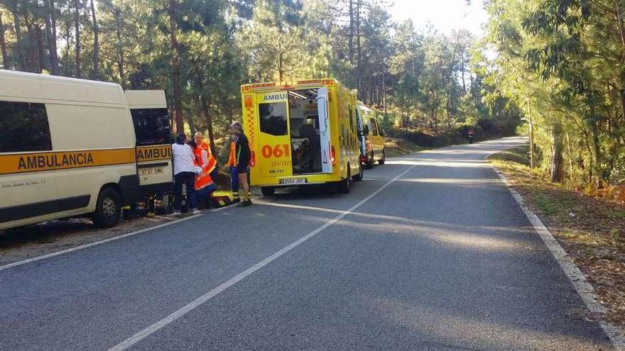 Un ciclista de 50 años fallece por muerte súbita en una competición en Oia