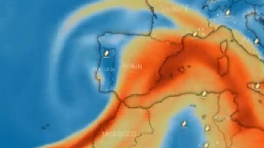El núvol de sofre del volcà de la Palma arribarà a la Catalunya Central