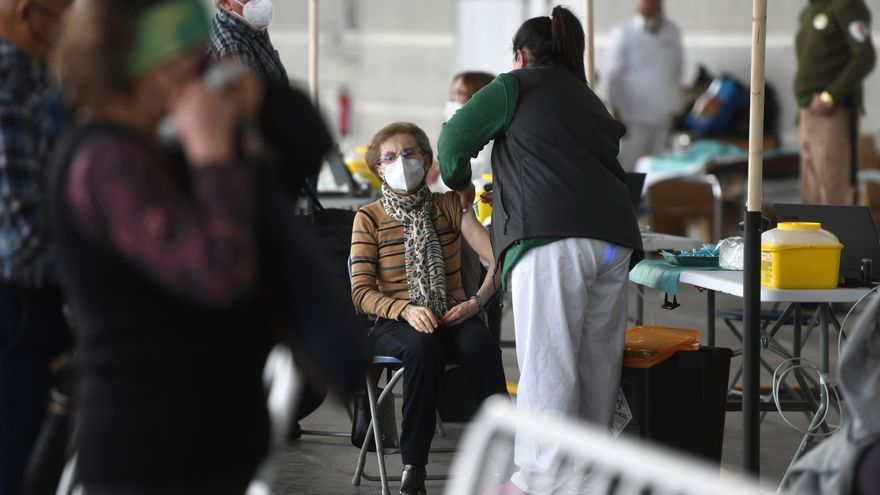 Vacunación masiva en Pontevedra, ayer