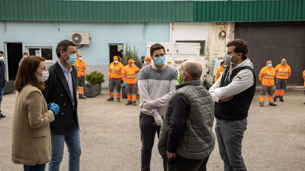 Un total de 35 personas trabajan en el Plan de Limpieza y Desinfección de Caravaca