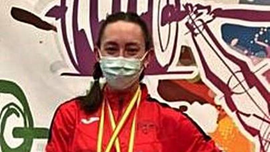 La avilesina Laura Osorio logra dos bronces en el Nacional