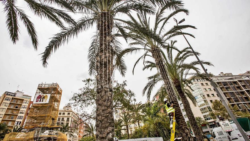 Las luces de Navidad llegan en verano a Alicante