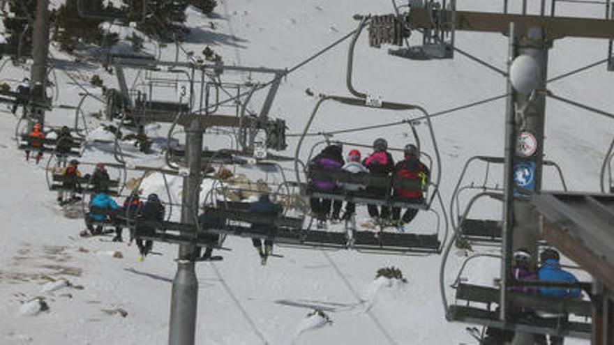 Vallter2000 avança la fi de la temporada d'esquí per les bones temperatures dels darrers dies