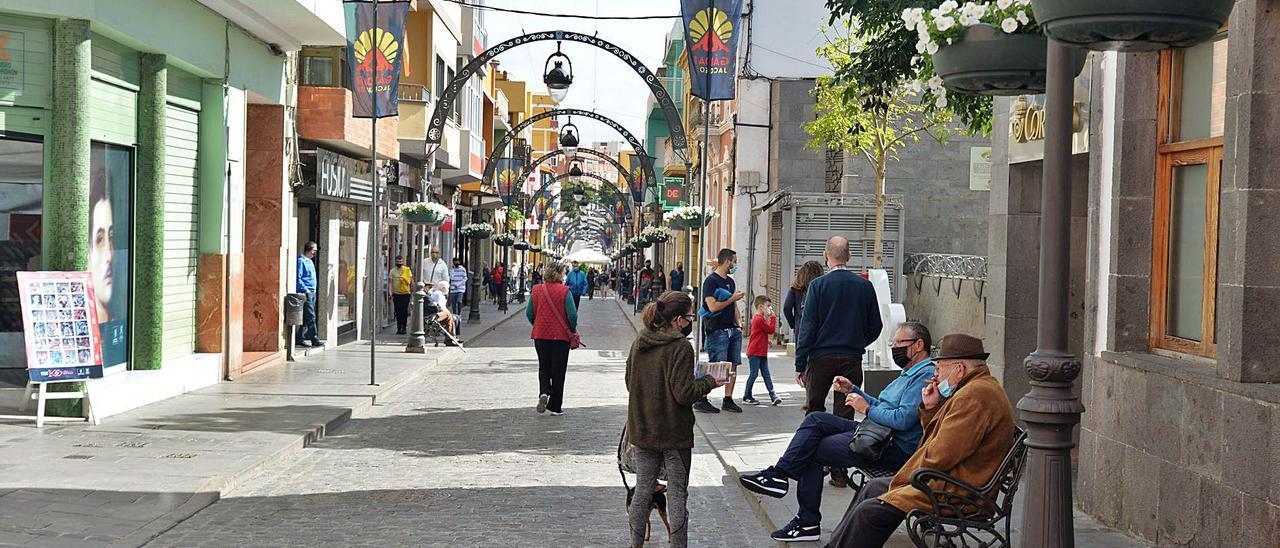 Vista de una de las calles prinicipales del casco de Gáldar. | | JOSÉ CARLOS GUERRA