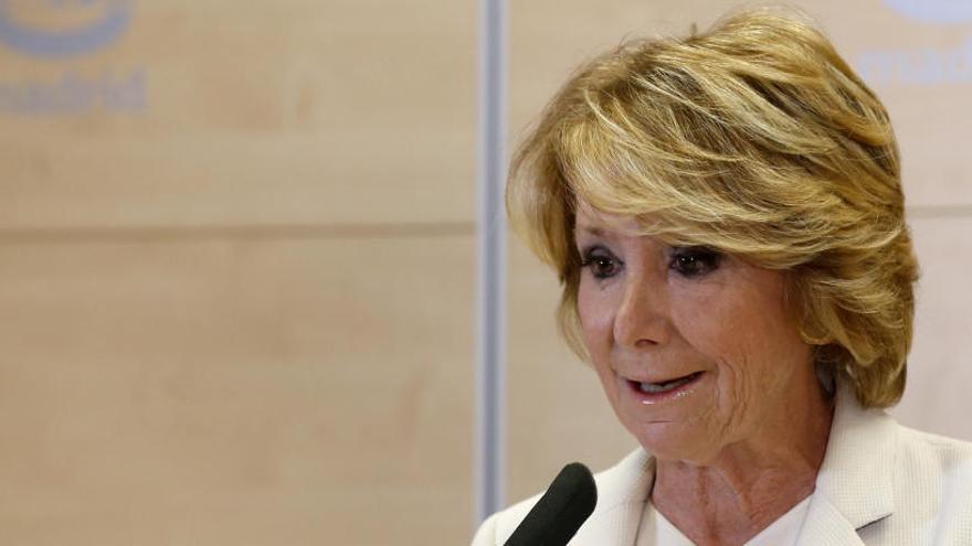 El PSOE pide imputar a Esperanza Aguirre en el caso Lezo