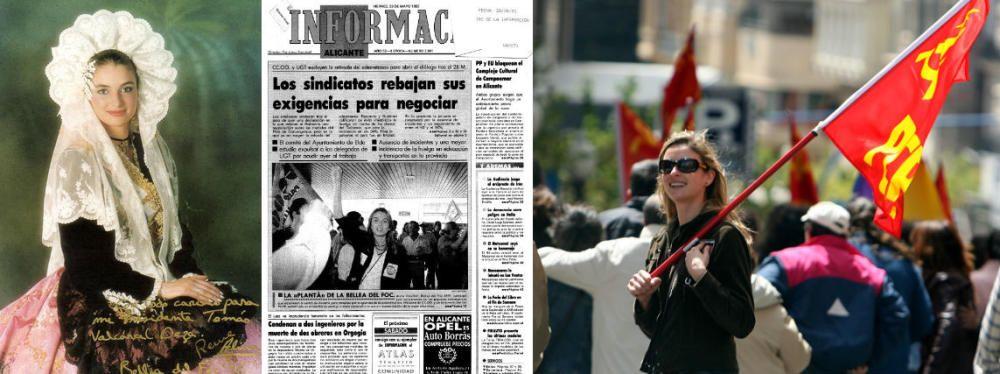 Alicia Crevillén, Bellea del Foc 1992, protagonizó una fotografía que llamó mucho la atención en su día con el puño en alto durante la huelga general que tuvo lugar durante su reinado. Años más tarde fue en la lista municipal del Partido Comunista de los Pueblos de España.