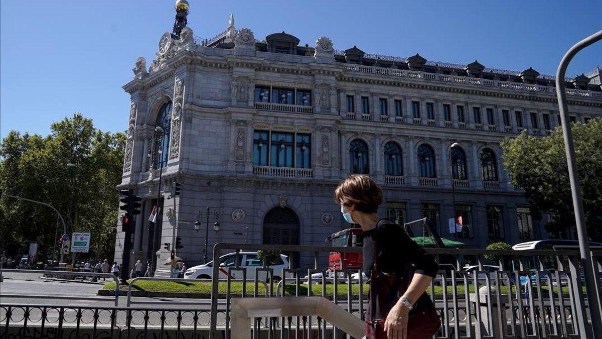 El edificio del Banco de España, ubicado en la Calle de Alcalá de Madrid.