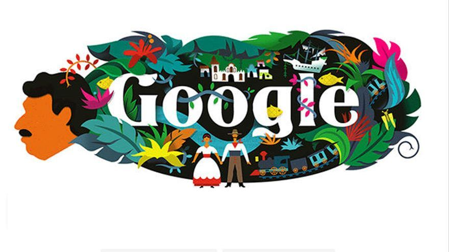 El doodle de Google recuerda a Gabriel García Márquez