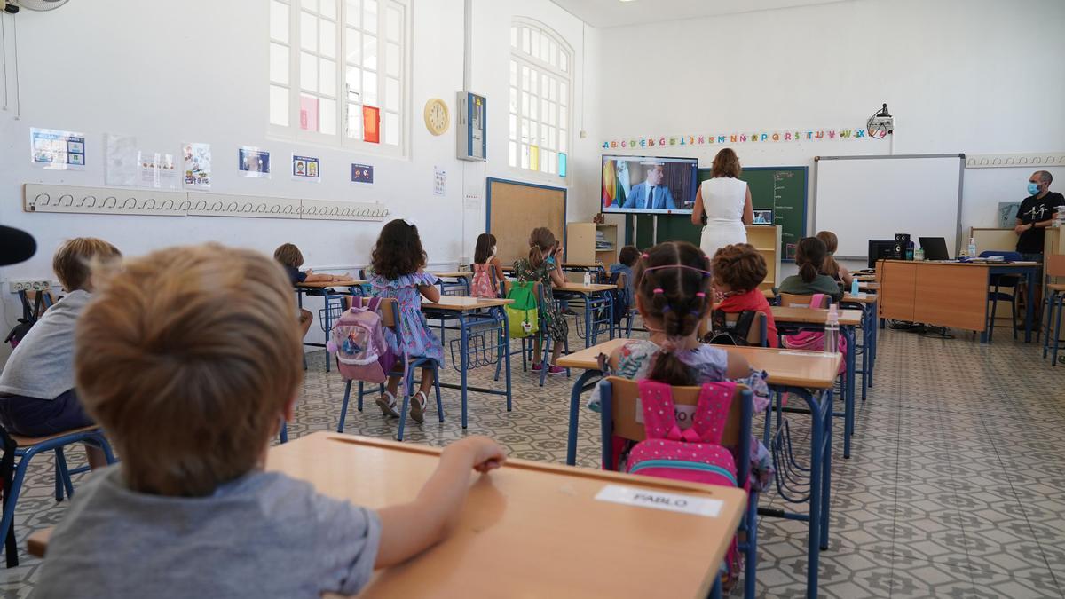 Un aula de un colegio de Andalucía.