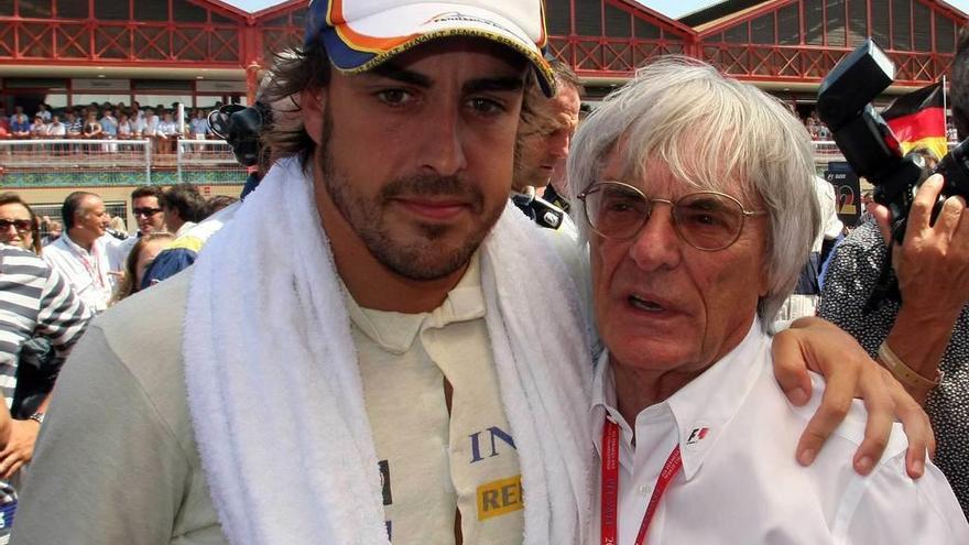 Ecclestone da por hecho que Alonso seguirá en McLaren