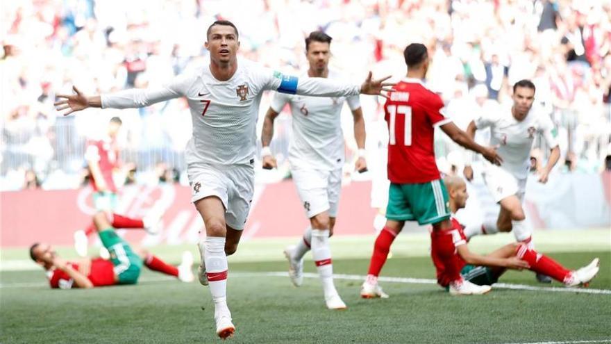 La ley de Cristiano Ronaldo se impone a Marruecos (1-0)