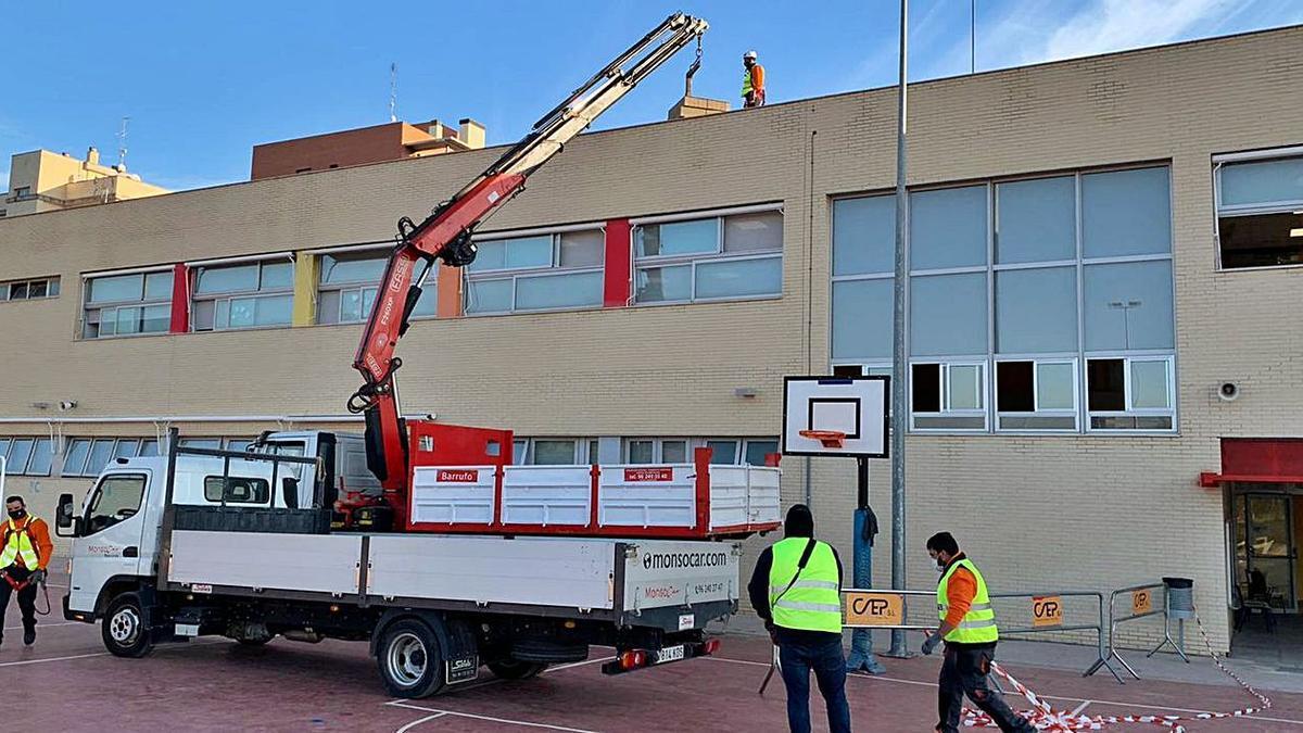 Los primeros trabajos para la instalación han comenzado en Lloma Llarga. | A.P.