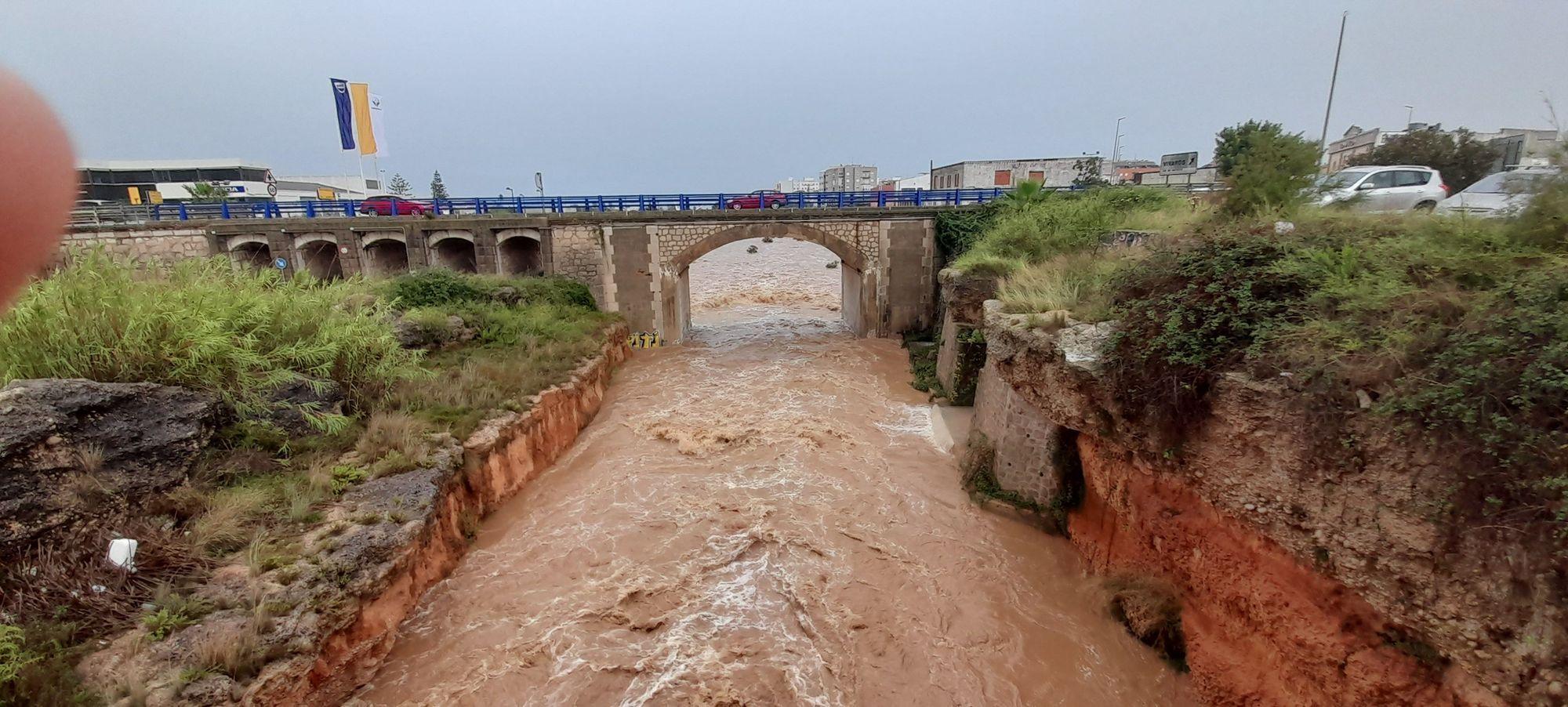 La DANA descarga con fuerza en Vinaròs