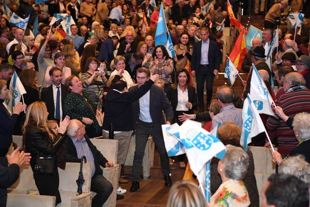 Feijóo, en el mitin central del PP en Galicia
