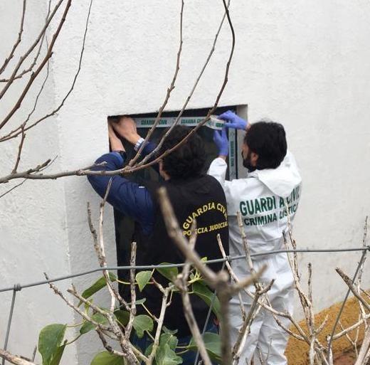 Las imágenes de la investigación del crimen de Zafra