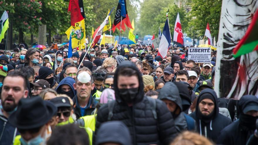 Enfrentamientos con la policía en la manifestación del 1 de mayo en Francia