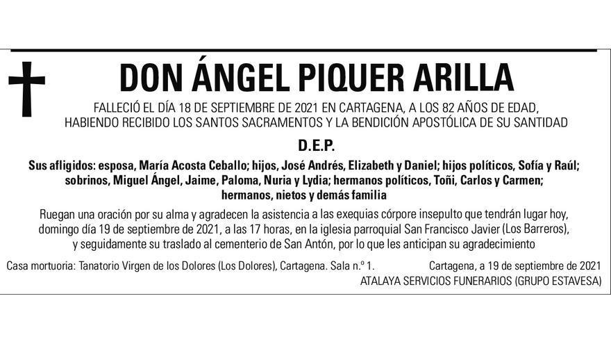 D. Ángel Piquer Arilla