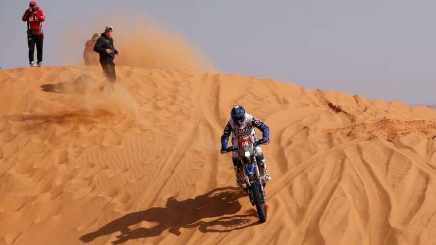 Sara García, en el Top  50, en la sexta etapa del Dakar