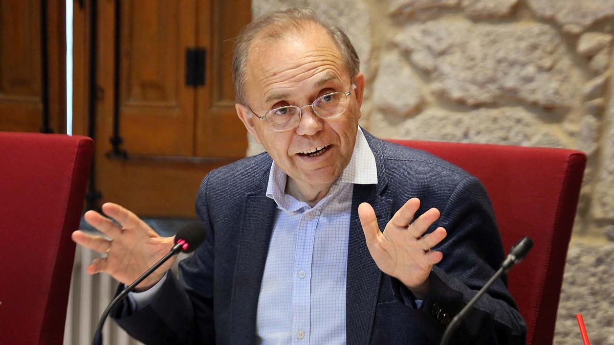 El alcalde de Ponteareas, Xosé Represas. // Hernández