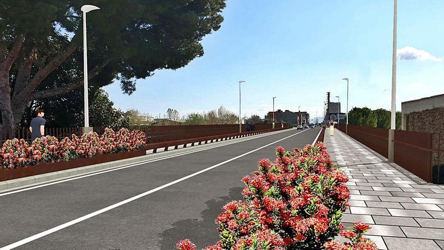 Gandia amplía el más bello de sus puentes para hacerlo más urbano