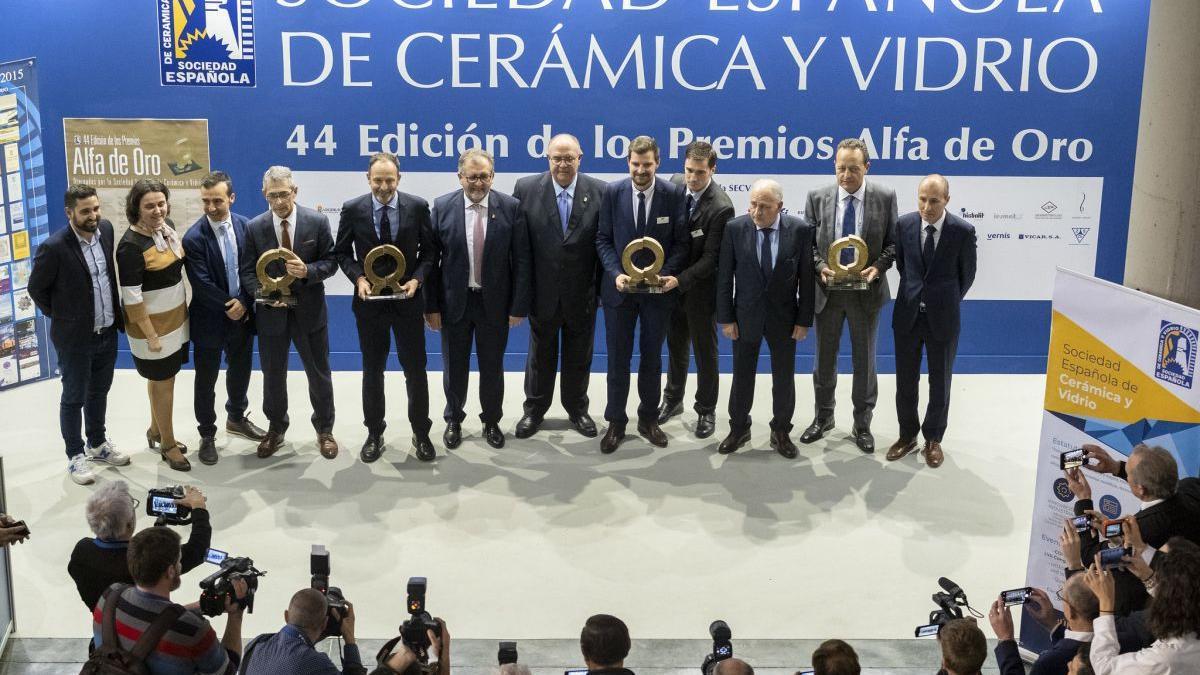 La ceremonia de entrega de la última edición de los Premios Alfa en Cevisama 2020.