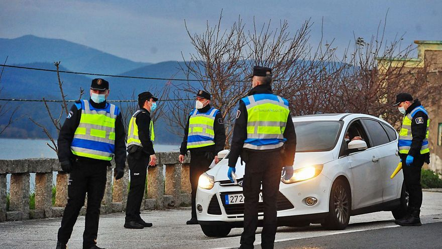 Los controles perimetrales en Vilagarcía acaban con un bajo número de denuncias