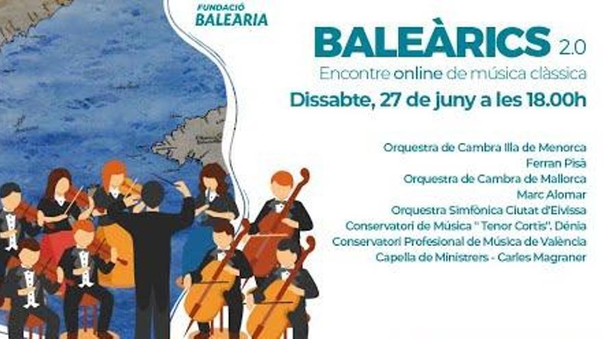 La Fundació Baleària organiza el sábado un encuentro 'online' de música clásica