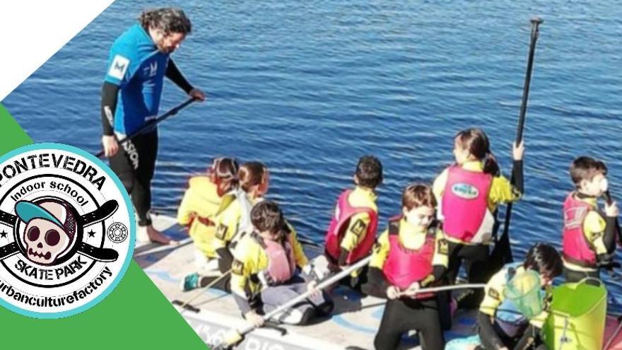 Campamentos gratuitos que unen paddel surf y cuidado del Lérez